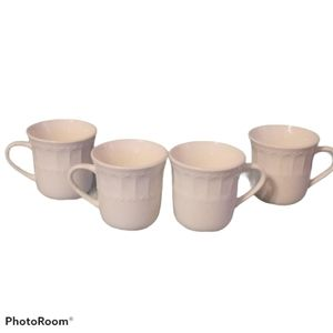Gibson Home Mugs - Small White Cups - Set of Four